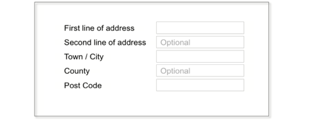 Optional form fields