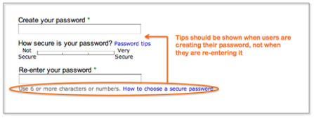 eBay password tips