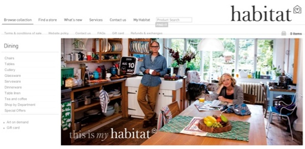 Screenshot of Habitat lifestyle photography