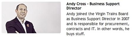 Photo of Virgin Trains Finance Director