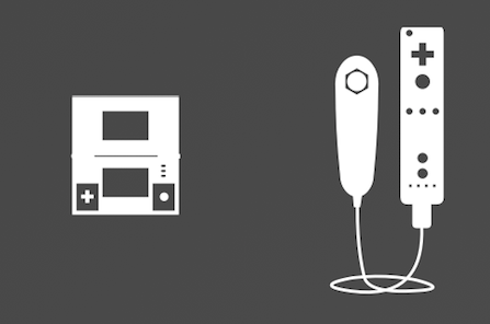 Nintendo game and watch and Wiimote