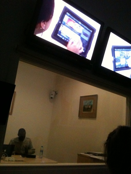 iPad testing viewing room
