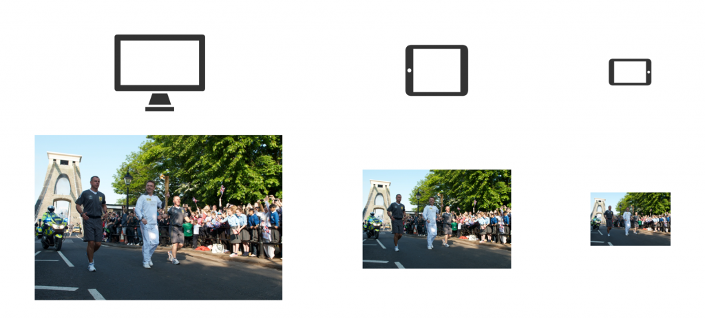Photos with less dominant subjects lose their impact when they scale