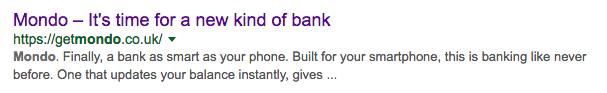 Mondo on Google
