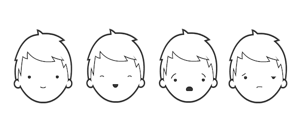 Simple drawings mean you focus on facial expressions rather than physical appearance